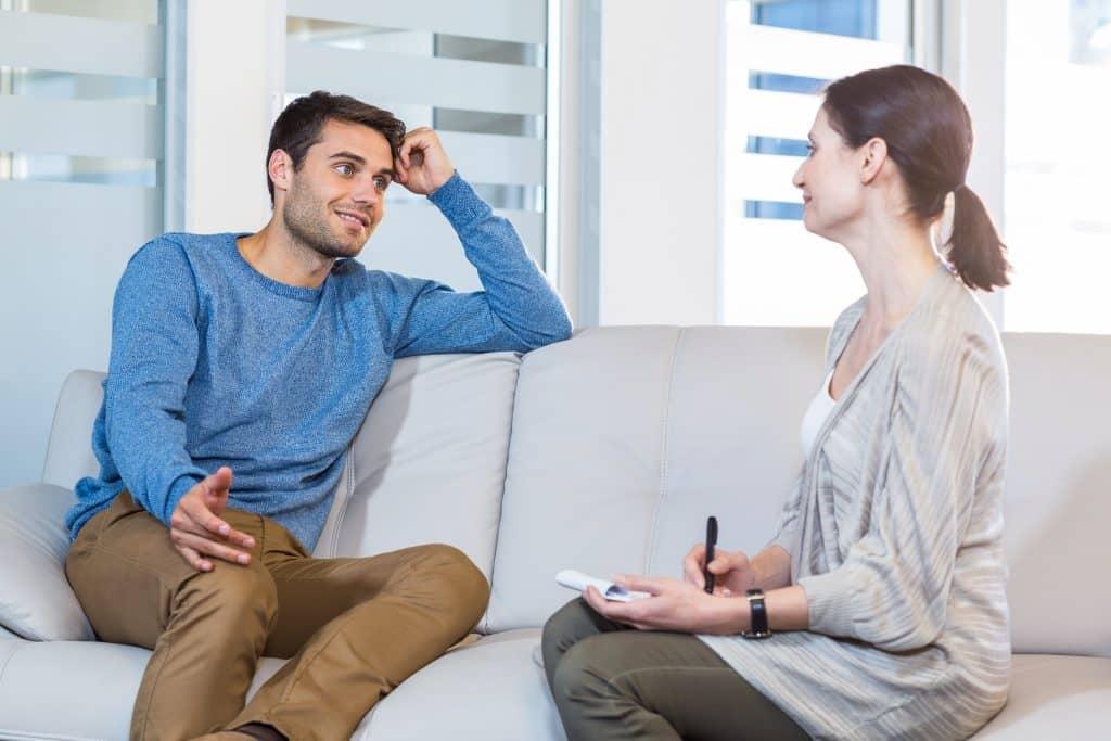 Psychologist talking